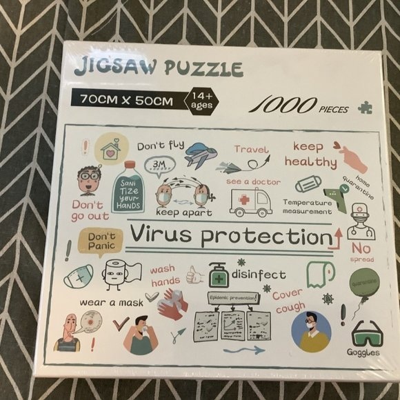 FUN 1000 Piece Virus Protection Puzzle- NEW!!
